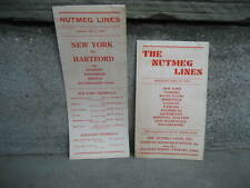 1935 The Nutmeg Bus Lines Timetables.New York, Yonkers, White Plains