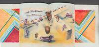 Ina Anderson (1942 - 2017) Outsider Art Ears a la Dali Pastel Drawing 24x18