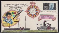 SCOTT 1270 ROBERT FULTON YASKO HAND PAINTED FIRST DAY COVER FDC