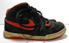 NIKE Shoes Boys Size 13C Black  Orange 511243-081 Mogan Mid Skater Sneakers Gym