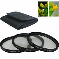 62 mm 62mm Macro Close-Up +1 +2 +4 Close Up Filter Kit for Canon Nikon Pentax