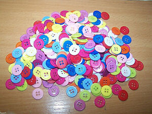 10 Piece Resin / Resin Buttons 15 MM 4 Hole 2 MM Edge Wäscheknopf Craft Sewing