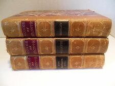 LOT Works of Bronte Charlotte Professor Emma Poems Shirley Villette Leather 3 Vo