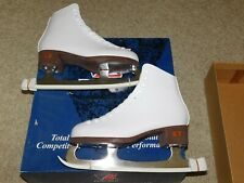 NEW OLD STOCK RIEDELL F112 FIGURE SKATES  SZ 5 WHITE  GR4 Blades