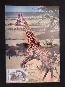 TOGO MK 1974 FAUNA GIRAFFE GIRAFE MAXIMUMKARTE CARTE MAXIMUM CARD MC CM c7749