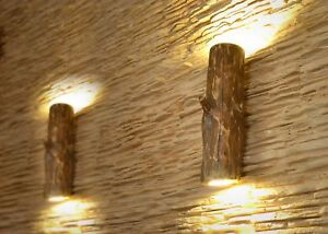 Wooden sconces, wall lamp from natural log, wood lamp, LED lighting, fixtures