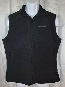 Columbia Sleeveless Vest Men's Large Black Fleece Lined Jacket Coat Sportswear