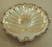 """HUGE Ornate Vintage Silver Plated Shell Dish 18"""" Wide"""