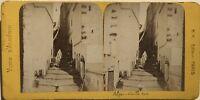 Algeria Algeri Vieille Rue Foto Stereo B.K.Parigi Vintage Albumina c1865