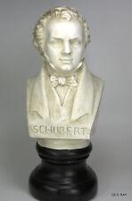 "Antique Vintage  Composer Bust Schubert Bust Figurine Statue 11"" tall Large"