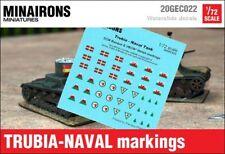 Minairons 1:72 Trubia-Naval tank markings - 20mm Spanish Civil War, VBCW