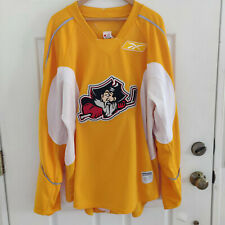 REEBOK AHL PORTLAND PIRATES AUTHENTIC RED JERSEY SIZE 58 TEAM ISSUE? Yellow
