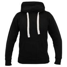Sudadera con capucha de hombre en color principal negro de algodón y poliéster
