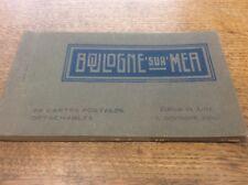 24 B/W Views Vintage Real Photos Souvenir Postcards BOULOGNE SUR MER France