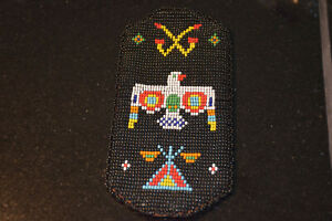 Native Southwest Indian Beaded Bag/Pouch Thunderbird design +. Excellent Cond.