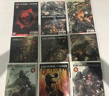Gears of War 1 - 9 Wildstorm DC Comic lot