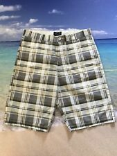 New Stussy Shorts Plaid Checker Mens Casual Surf Surfboard Men's Size 32