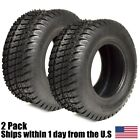 2PK 16x6.50-8 TURF TIRES 4 Ply Tubeless for John Deere Lawn Mower Tractor Rider