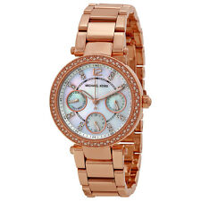 MICHAEL KORS MK5616 MINI PARKER ROSE GOLD CHRONO WATCH - RRP £259