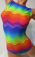 FlipFlop Leos Gymnastics Leotard,  Gymnast Leotards - RAINBOW MERMAID