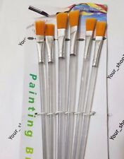 6pcs /set Paint Brush for Oil Watercolor Acrylic Art Craft Artist Painting UK