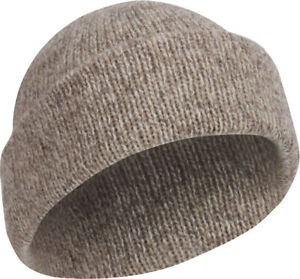 Oatmeal Ragg Wool Hat Knitted Outdoor Military Winter Cap