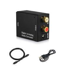 Optical Digital Coax Coaxial Toslink to Analog Audio RCA L/R Converter Adapter U