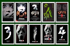SCREAM FILMS  - FILM  POSTER POSTCARD SET # 1