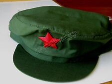 CHINA CHAIRMEN MAO PLA RED ARMY SOLDIER GREEN CAP HAT