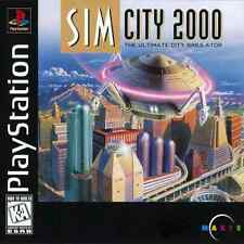 SimCity 2000 Sony PlayStation 1 PS1 COMPLETE BLACK LABEL Case Manual Game Disc