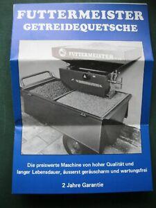 Futtermeister Getreidequetsche Prospekt  von 1984 - Getreide Landmaschinen P3