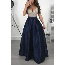 Women Evening Party Sparkly Bling Long Maxi Dress Ladies Cocktial Prom Ball Gown