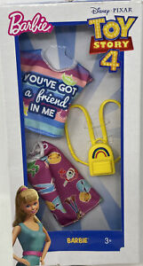 """Mattel Barbie Toy Story 4 12"""" OUTFIT NEW NRFB! Skirt Rainbow Book bag"""