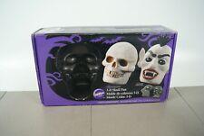 Wilton 3-D Skull Cake Resin Pan Mold Halloween Gothic Monster Skeleton Mint