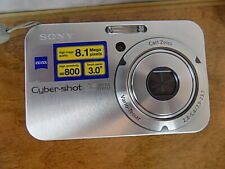 """Sony Cyber-shot 8.1 MP Digital Silver Camera Zip Carry Case 3"""" Touch Panel Zoom"""