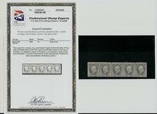 "1881 Us Stamp Scott 206 1cent 5 Strip. Gray Blue. Unused. Pse ""Error"""