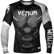 Venum No-Gi 2.0 Long Sleeve MMA Compression Rashguard - Black/White