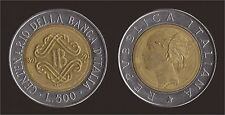 500 LIRE 1993 BANCA D'ITALIA FIRMA GRANDE - VARIETA' METALLO IN PIU' SULLA TESTA