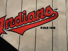 Vintage CLEVELAND INDIANS Chief WAHOO Pinstripe Vest Baseball T Shirt sz Medium