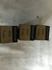 3x Haltron 6EA8 Vacuum tubes. NOS. Original packaging. Vintage.