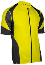 Sugoi RPM Full Zip Bike Bicycle Cycling Jersey Lane (Yellow/Black) - Small
