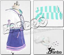 Hyperdimension Neptunia Neptune Purple Heart Cosplay White Purple Uniform