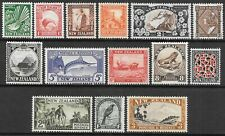 NEW ZEALAND 1935 single watermark set to 3s, VFM hinged. SG 556/569. Cat.£170.