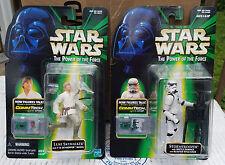 Star Wars Commtech Luke Skywalker & Stormtrooper Carded Figures 1999 Lot Of 2