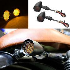 Motorcycle Black Bullet Blinker Led Turn Signal Light For Bobber Chopper Cruiser(Fits: Mastiff)