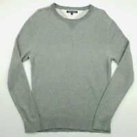 Tommy Hilfiger Mens  Pullover MEDIUM  Grey Cotton Sweater Jumper Knit Crew Neck