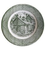 """The Old Curiosity Shop - Dinner Plate 10"""" Royal China USA - Green Vintage"""