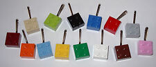 10 LEGO BRICK BLOCK PARTY FAVORS BAG FILLER ZIPPER PULLS  BACKPACK CHARMS GIFTS