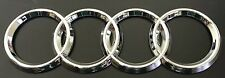 AUDI RINGS CHROME REAR BOOT TRUNK BADGE LOGO EMBLEM STICKER 216mm X 75mm