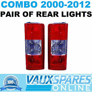 VAUXHALL COMBO VAN PAIR OF REAR LIGHTS PASSENGER & DRIVERS SIDE 2000-20012